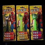 Three Spiderman Pez Dispensers MOC