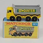Vintage Lesney Matchbox 51c 8 Wheel Tipper MIMB