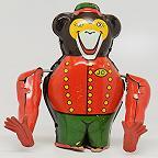 Joustra Acrobat Bear Tin Litho Wind up Toy