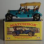 Lesney Matchbox Yesteryear Y12 1909 Thomas Flyabout,Turquoise