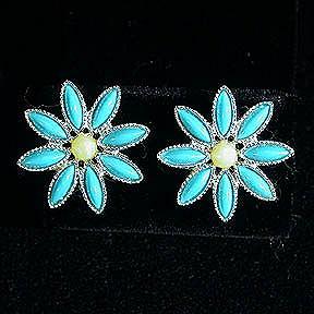 Sarah Coventry Daisy Time Clip Earrings