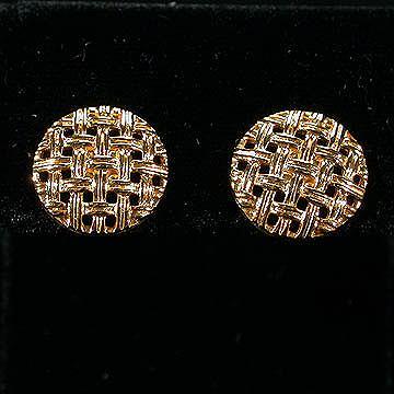 Sarah Coventry Basket Weave Clip Earrings