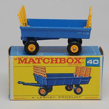 Vintage Lesney Matchbox 40c Hay Trailer MIB