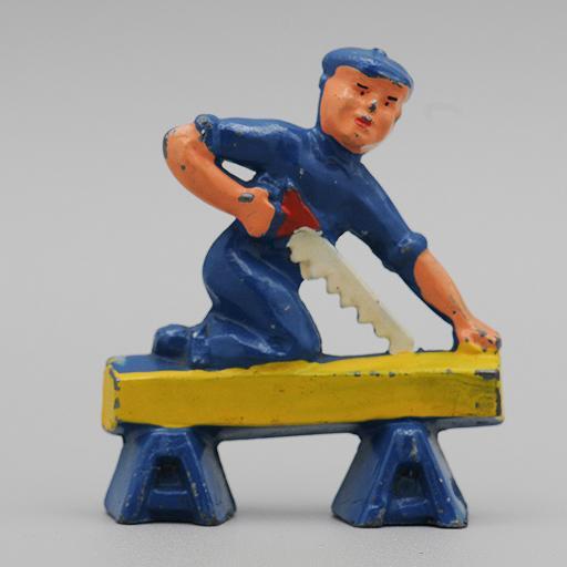 Manoil Carpenter  from Happy Farm Series Dimestore Figure 1/24