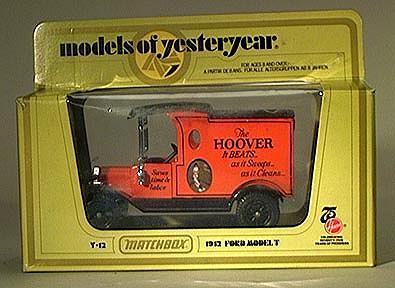 Matchbox Yesteryear Y12- 1912 Ford Model T Van - Hoover