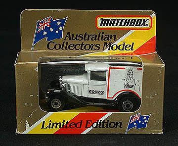 Matchbox Australian Ltd edition 38 Ford Bonds Van