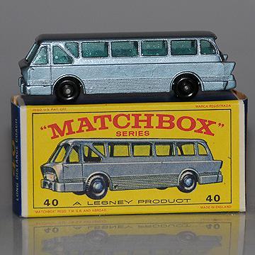 Vintage Lesney Matchbox 40B Long DIstance Coach