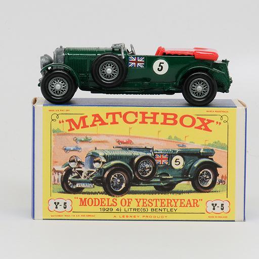 Matchbox Yesteryear  Y5-2 4 1/2 litre(S) Bentley rarer version MIB