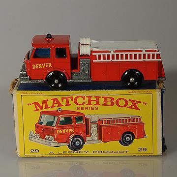 Lesney Matchbox 29C Fire Pumper Truck BPW